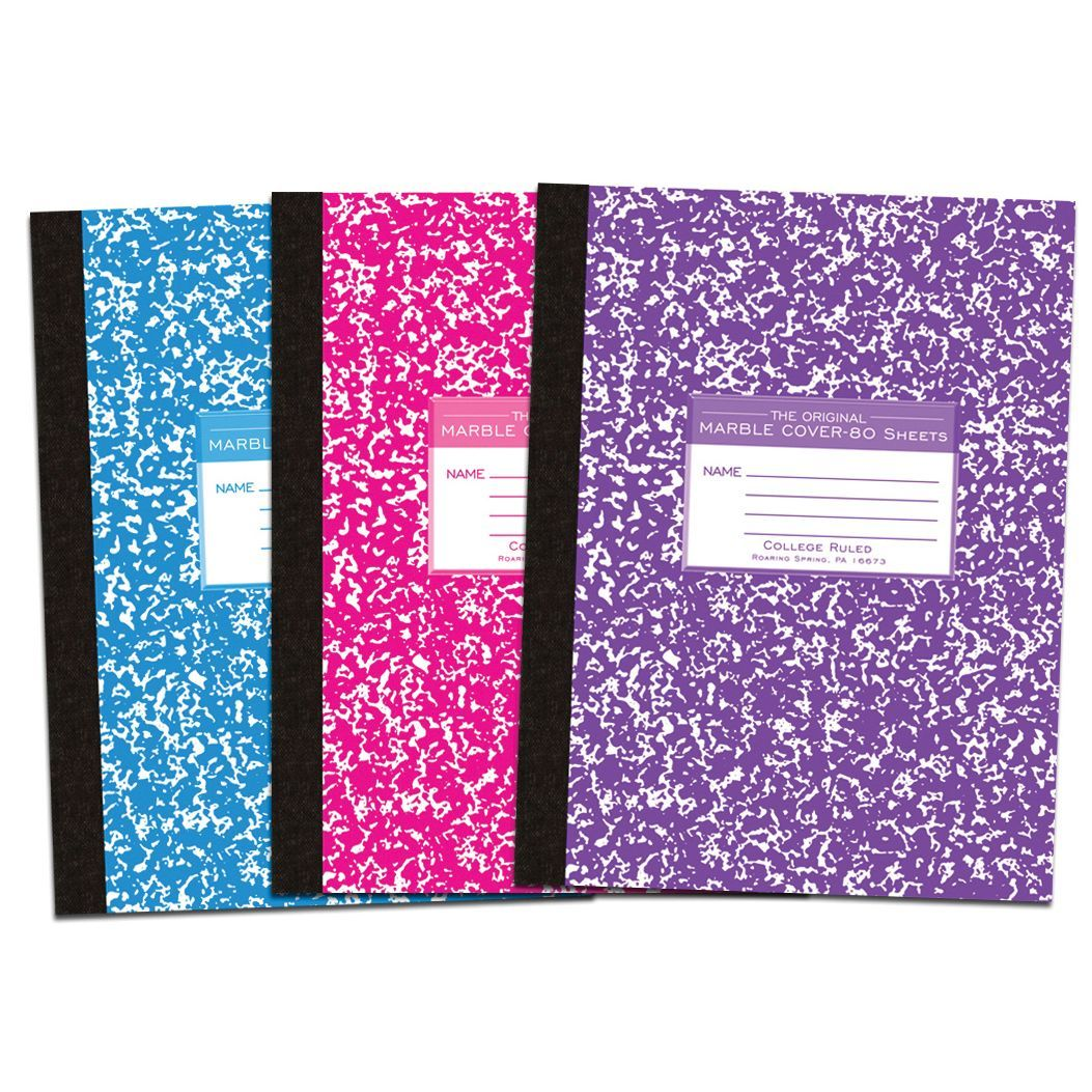 Roaring Spring Paper Company 77480 10 1 4 X 7 3 4 Composition Book Assorted Colors Paper Companies Online Paper Composition