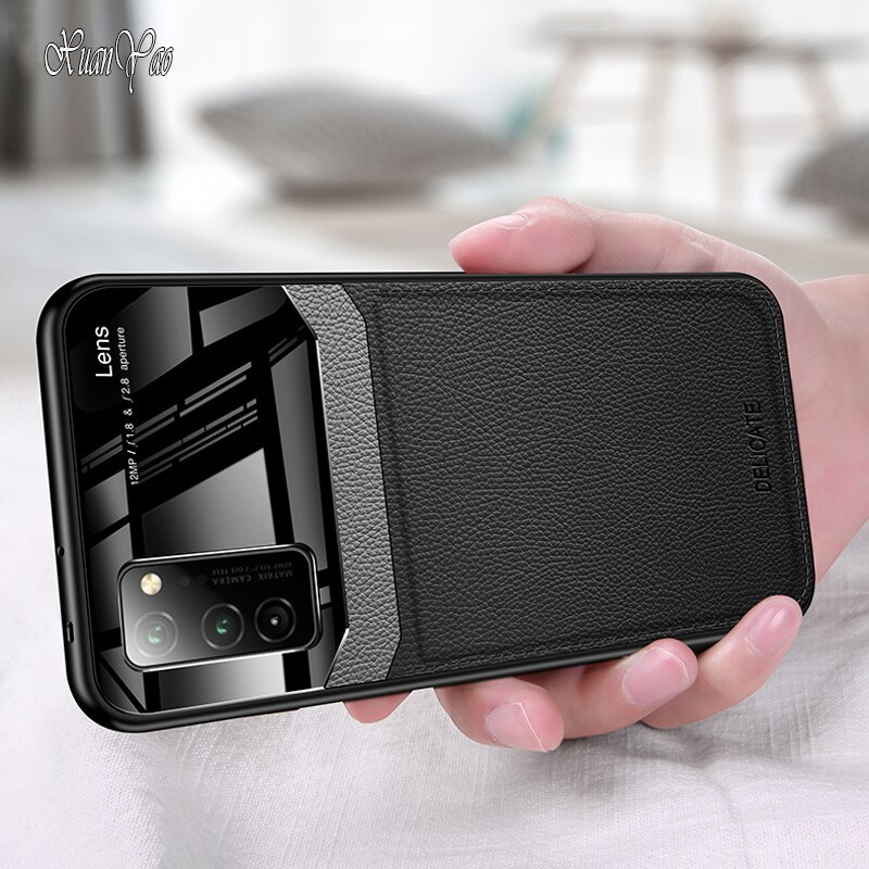 Phone Case Honor View 30 20 10 Case Hard Leather Coque For Huawei Honor View 10 20 30 Pro Case Soft Silicone V10 V20 V30