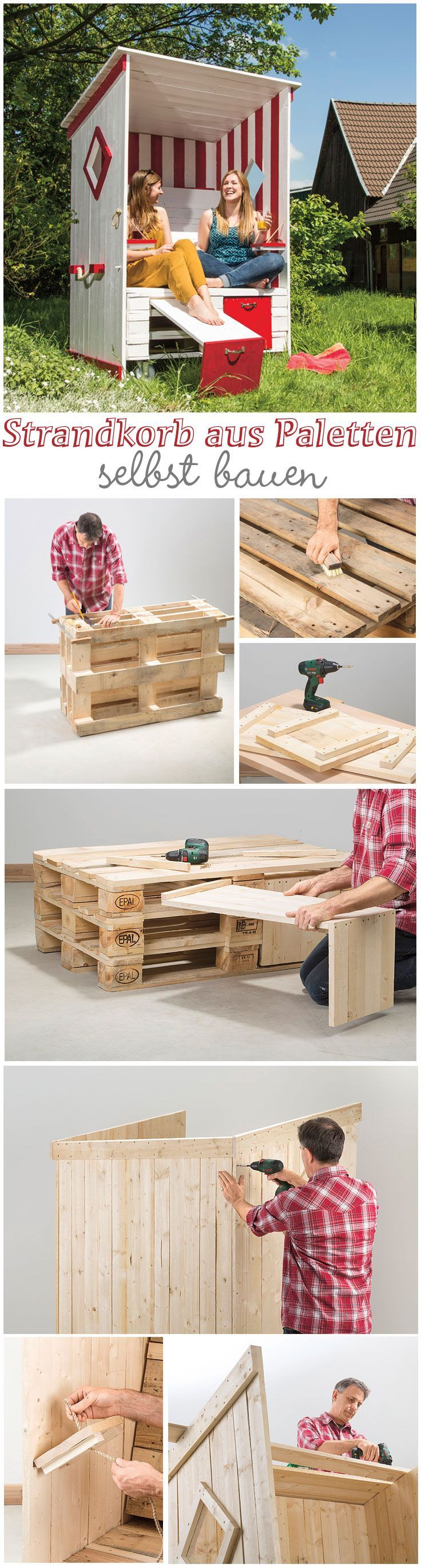 strandkorb aus paletten pinterest pallets gardens and pallet projects. Black Bedroom Furniture Sets. Home Design Ideas