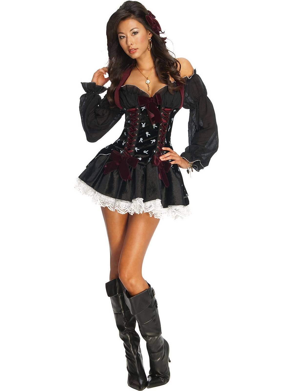 Playboy Sexy Swashbuckler Pirate Adult Costume | Wholesale Pirate Costumes for Adults  sc 1 st  Pinterest : cheap pirate halloween costumes  - Germanpascual.Com