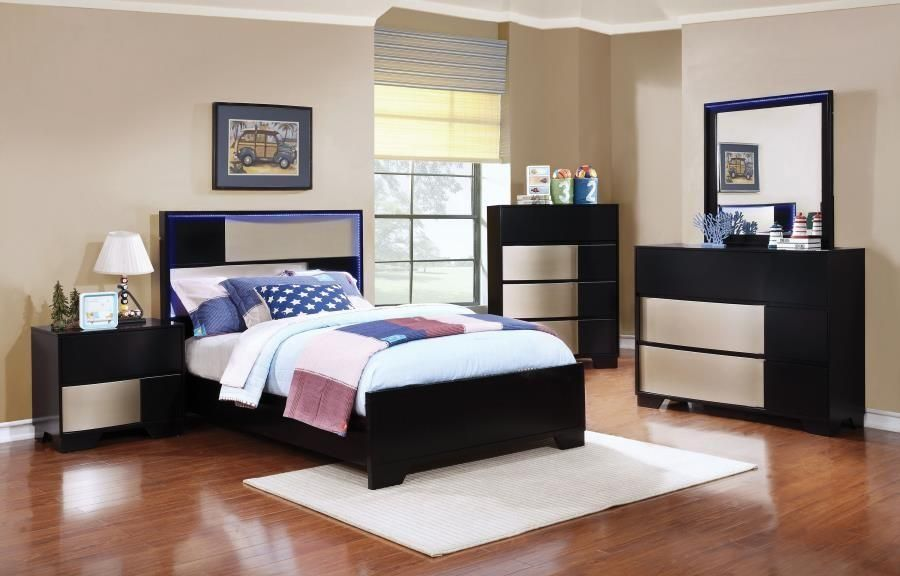 Contemporary Italian Inspired Design Full Bedroom Set Products - Italian Bedroom Sets