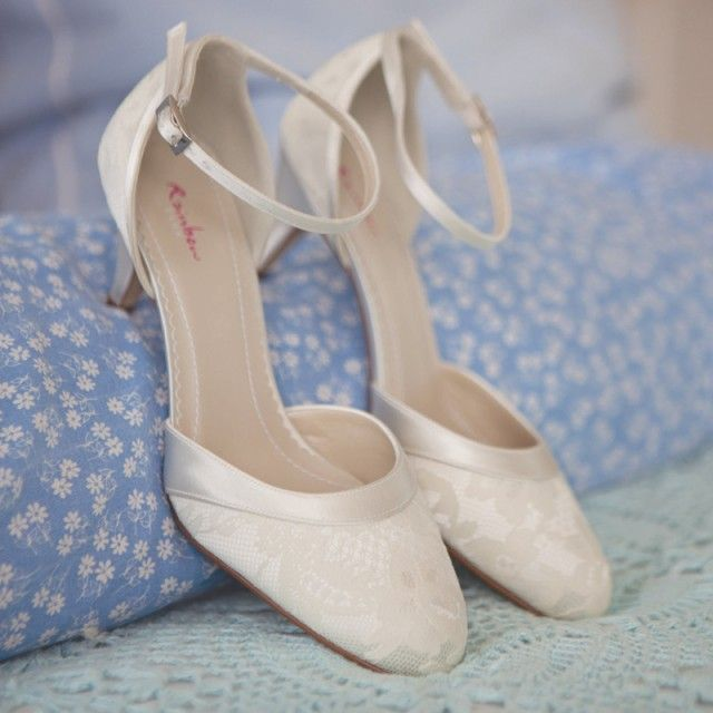 Penny By Rainbow Club Ivory Dyeable Lace Wedding Shoes Perditas Offer Free Delivery Shoe Dyeing Service And 30 Day Returns