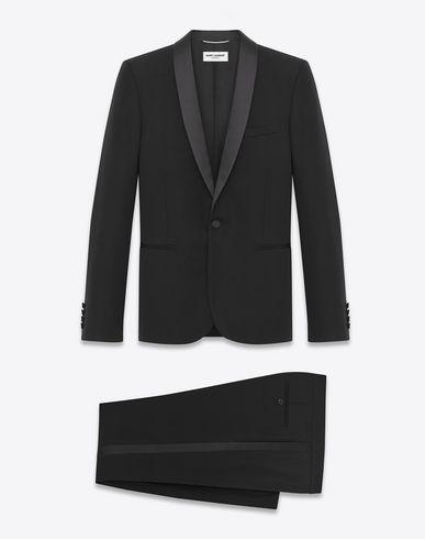 c8902c2a748 SAINT LAURENT Iconic Le Smoking Suit In Black Grain De Poudre Textured  Virgin Wool. #saintlaurent #cloth #