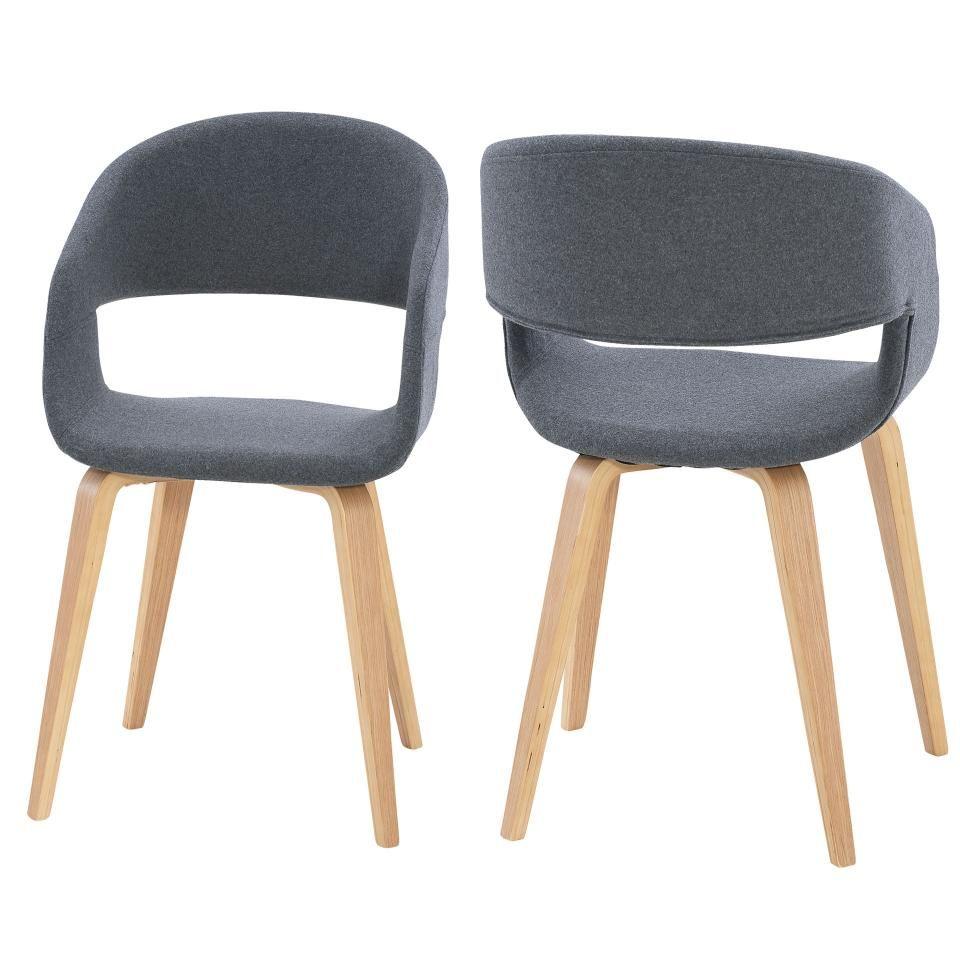 2erSet Armlehnenstuhl Holstebro (anthrazit) Stühle