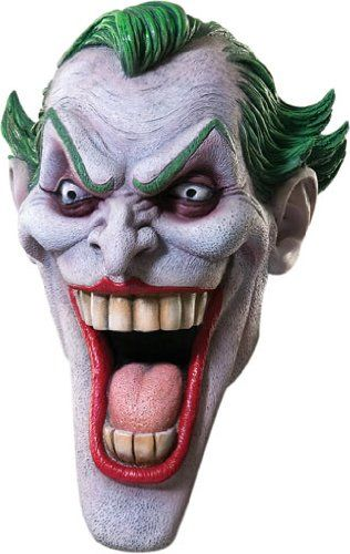 Rubie 39 s costume dc heroes and villains collection joker latex mask multicolored one size rubie - Masque halloween qui fait peur ...