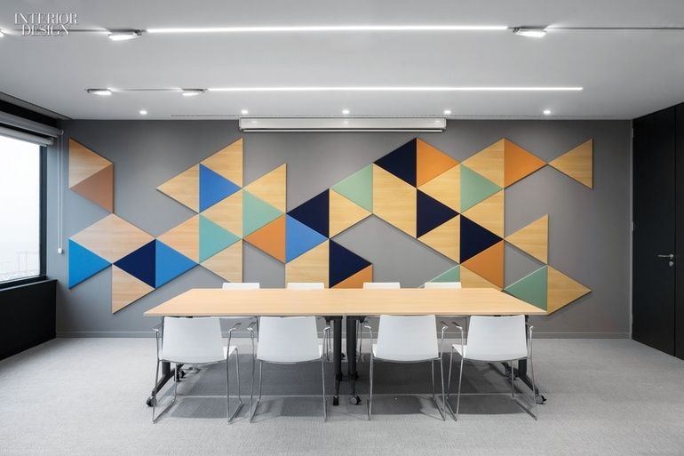 4 tech and finance companies rock out at the office the for Wallpaper design for office wall