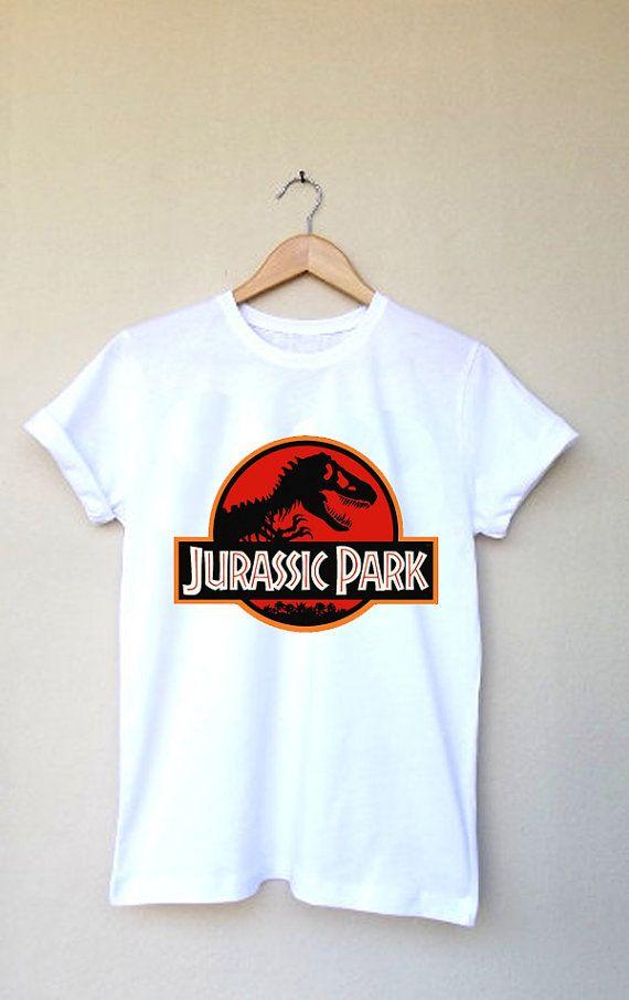 Jurassic Park White Cotton Tshirts Custom Rock Tee Short Sleeves Tee Shirt Women Printed T Shirts Unisex Tee Size S M L Xl Xxl 3xl On Etsy 9 33