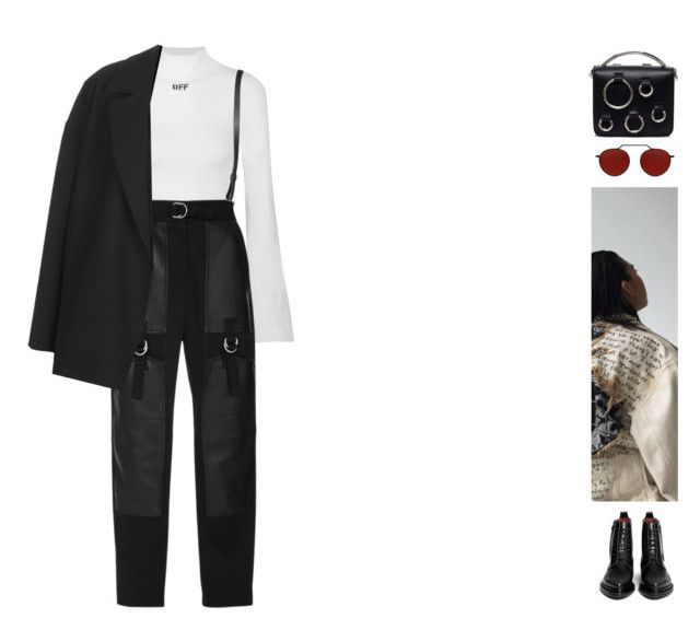 """#604"" by ginadav ❤ liked on Polyvore featuring Off-White, Alexander Wang, Topshop, Acne Studios, MSGM and Illesteva"