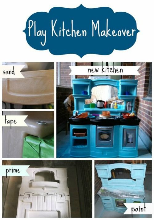 Step2 And Little Tikes Upcycle Ideas Play Kitchen Kids Play Kitchen Kitchen Makeover