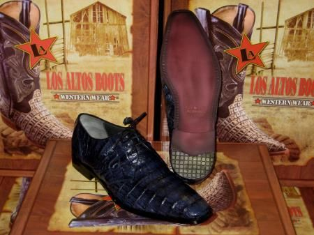 6f6d68b822 SKU JB56 Mens Genuine Authentic Jean Blue caiman ~ alligator Crocodile ~ Alligator  Belly Dress Shoe