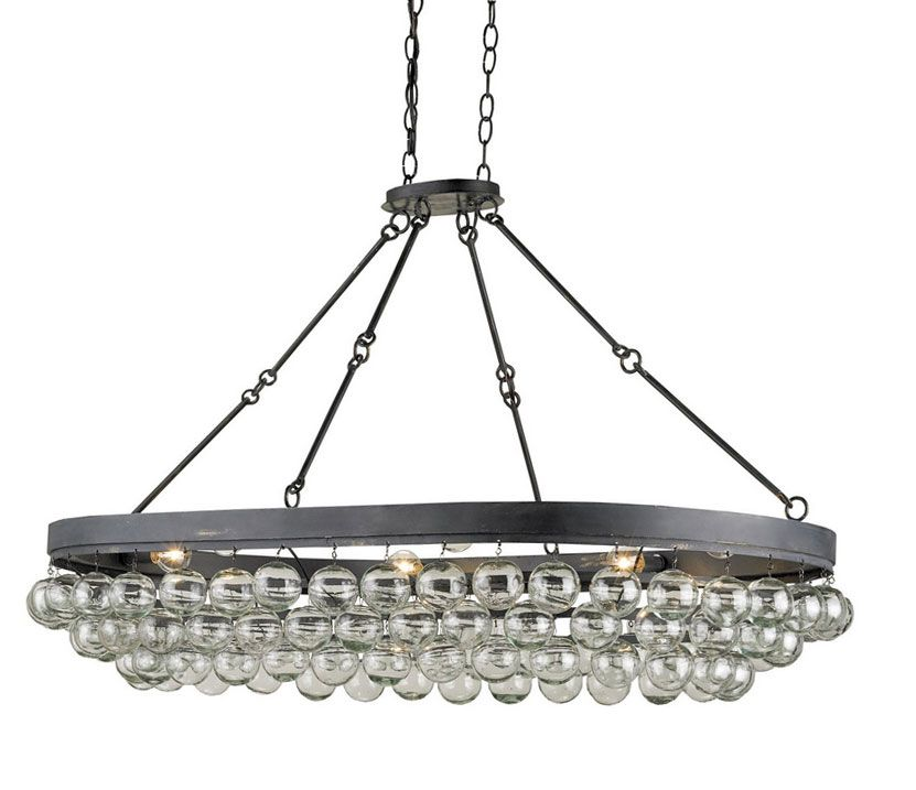 Currey And Company Toronto: ChandeliersSethos Rectangular Chandelier In Silver Granello