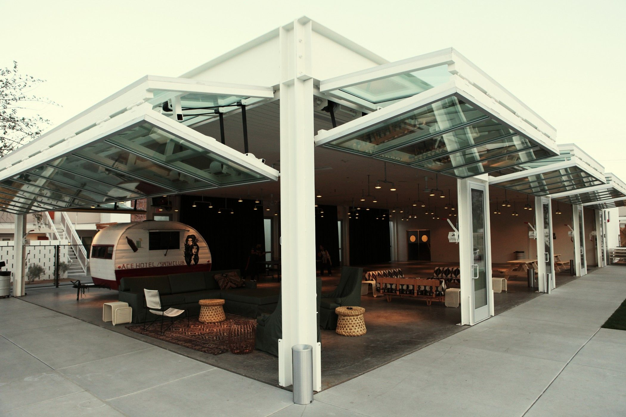 Vertical Folding Doors Ace Hotel Palm Springs Ace Hotel Architecture