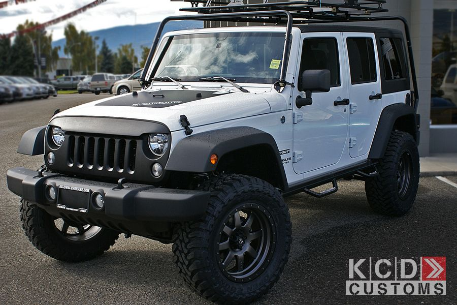 Jeep Wrangler Unlimited With 20 Fuel Trophy Wheels Textured Angry Grille Custom Hood Decals Dominato Jeep Wrangler Jeep Wrangler Tj Jeep Wrangler Unlimited