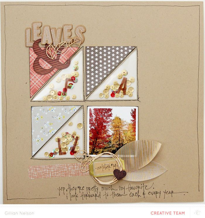 #Papercraft #Scrapbook #Layout. leaves & fall by just g at @studio_calico