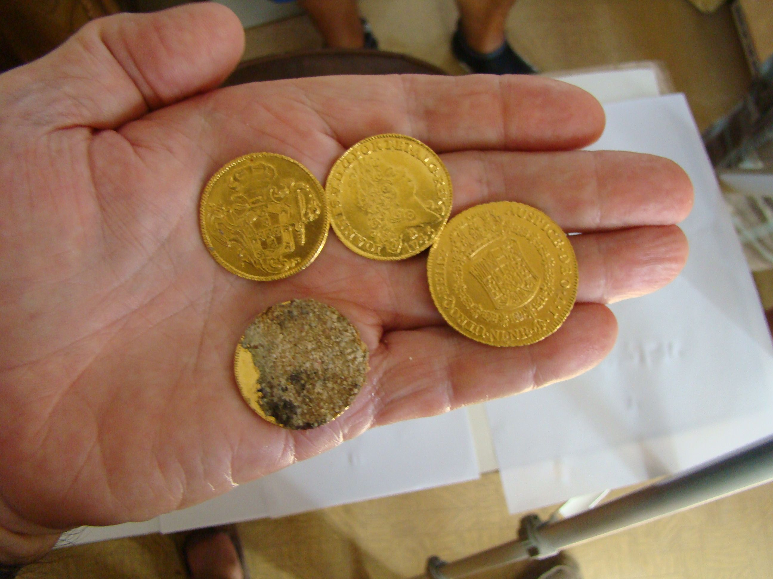 Some Of The Many Gold Coins We Were Finding At