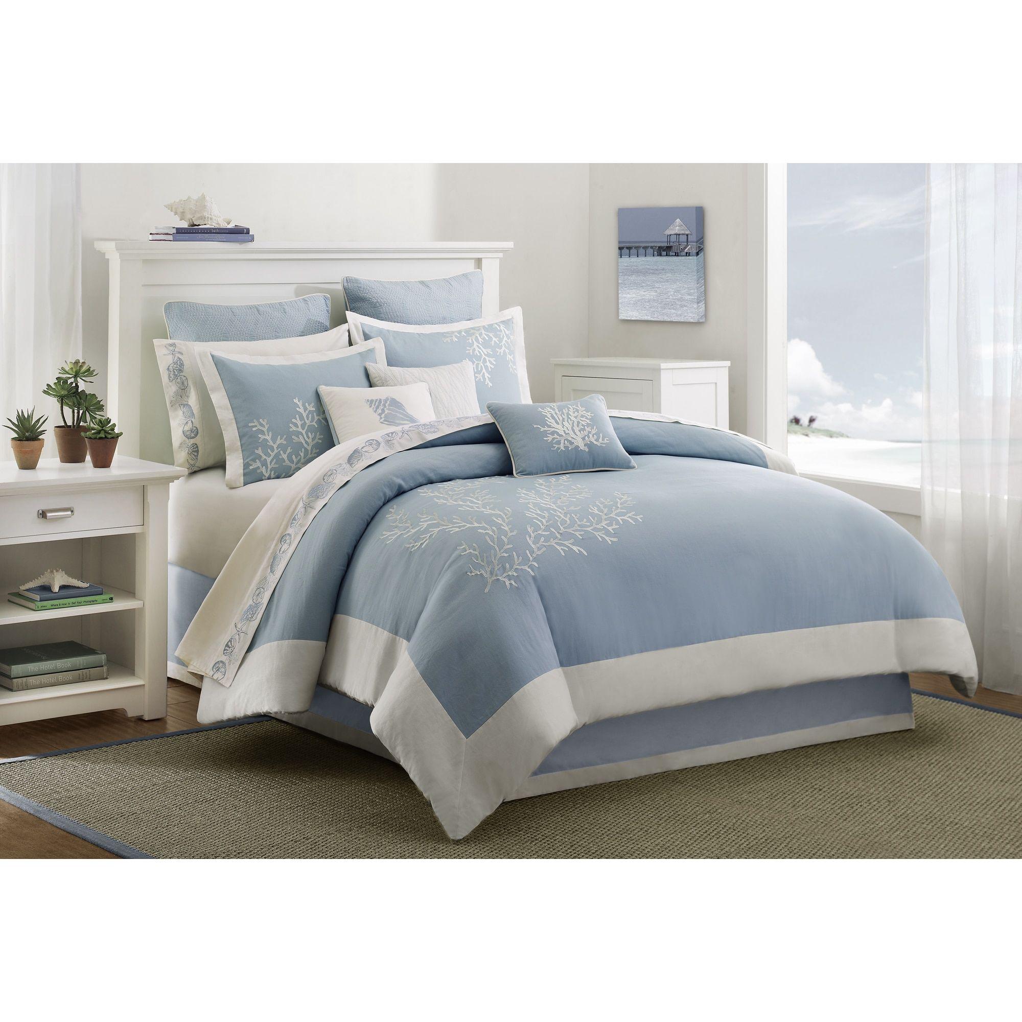 Harbor House Coastline Aqua (Blue) Cotton 3 Piece Duvet Cover Set