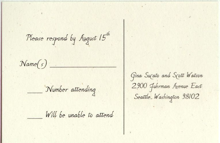 wording for wedding invitation response cards Wedding Ideas