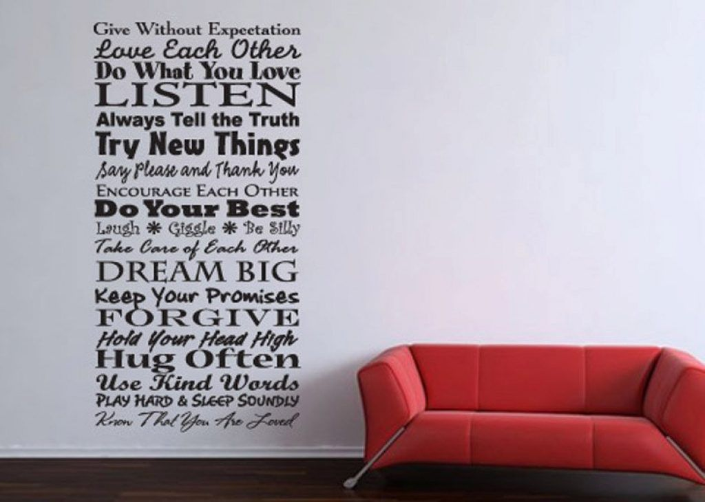 Wall Classy Design Wall Art Words Sayings On Wood Inspiration Canvas For Kitchen Stickers Uk Wooden Family In From 35 Vinyl Wall Words Custom Wall Words Words