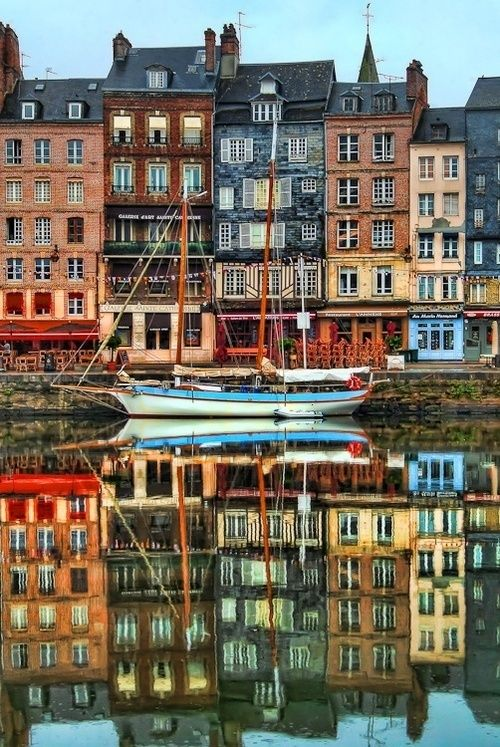Le port de Honfleur, Normandie, France. Had lunch here. This is where the French set off to Canada.