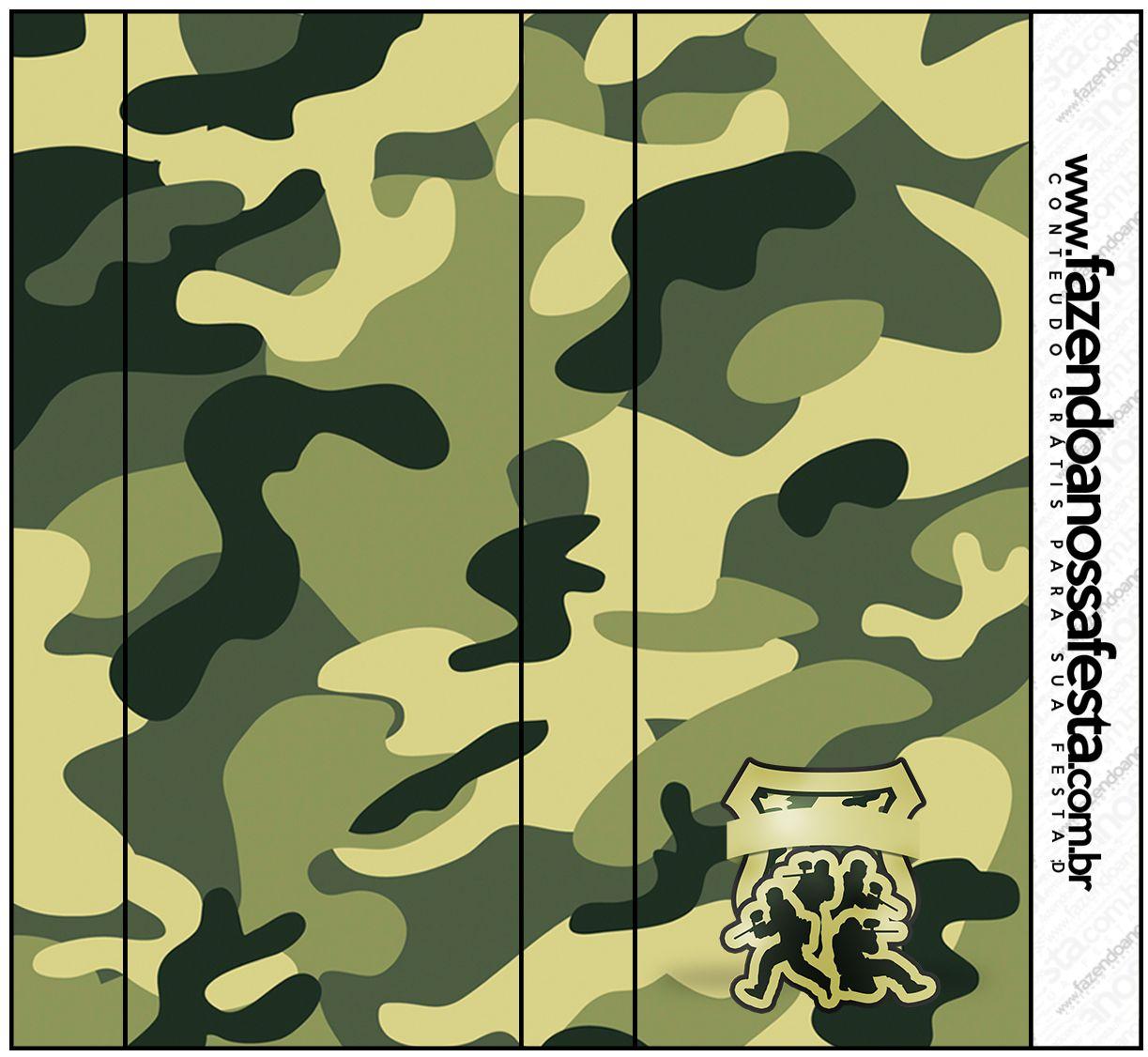 Rótulo Pirulito Mastigável Kit Militar Camuflado                                                                                                                                                     Mais