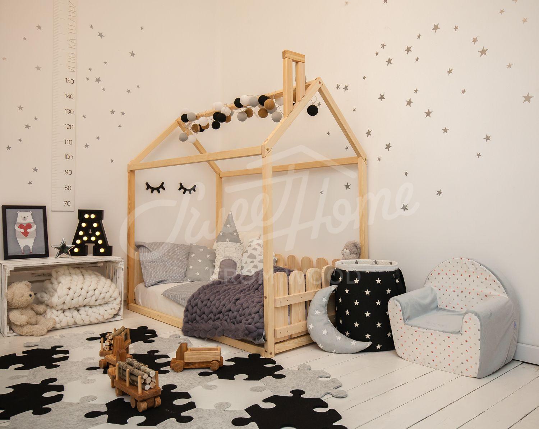 Children Bed, Toddler Bed House Bed House Bedroom Interior Unique Bed Twin Size Child Room Kids Play Fort Big Girl Bed Nursery Bed | Toddler Bed Frame, Kid Beds, Toddler House Bed
