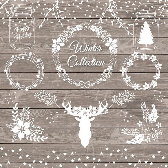 Rustic Winter Holiday Clipart