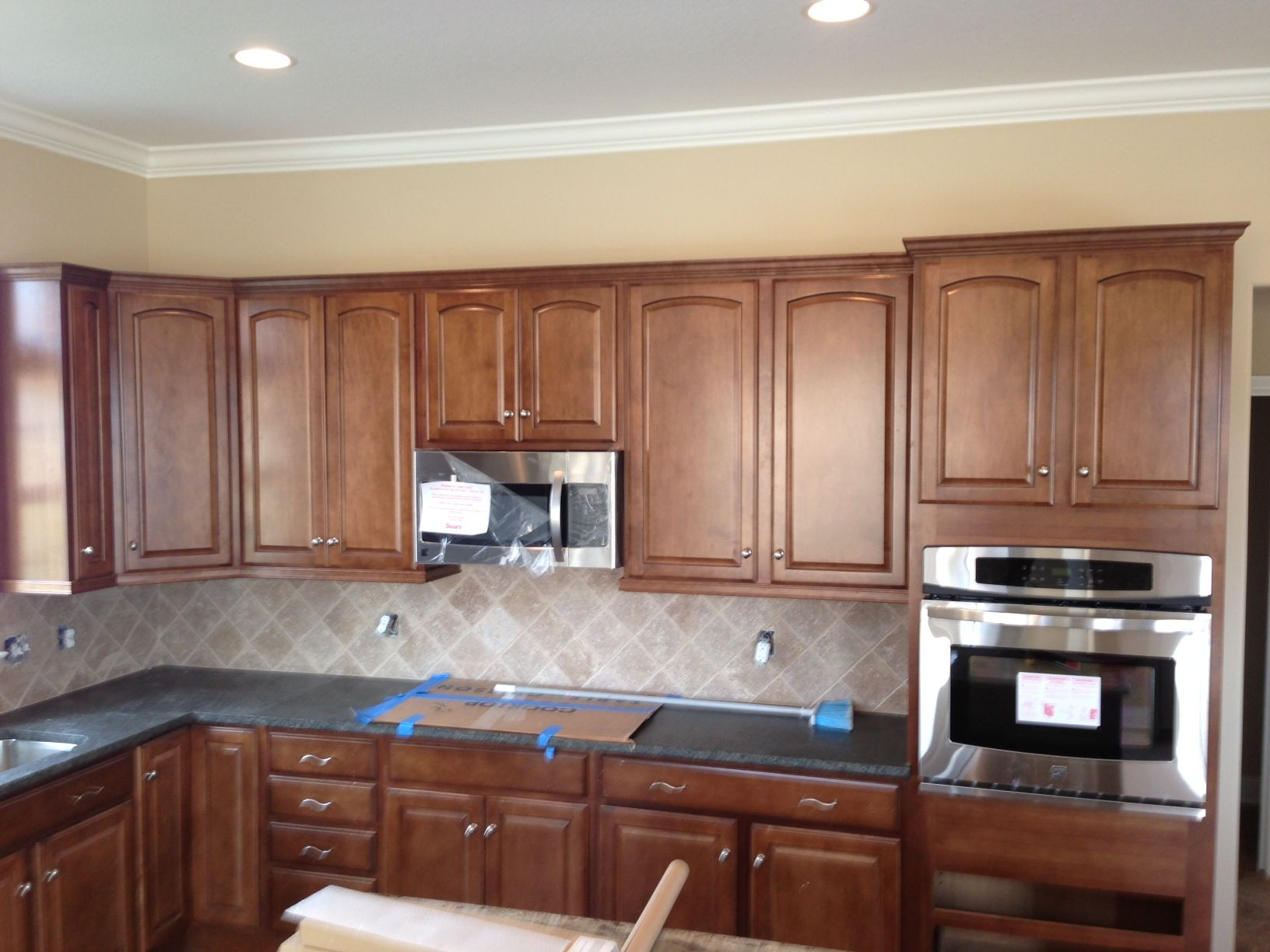These cabinets - square, not arched top. | Kitchen remodel ...
