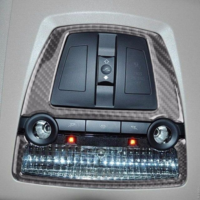 Carbon Fiber Reading Light Decor Cover Trim Car Sticker