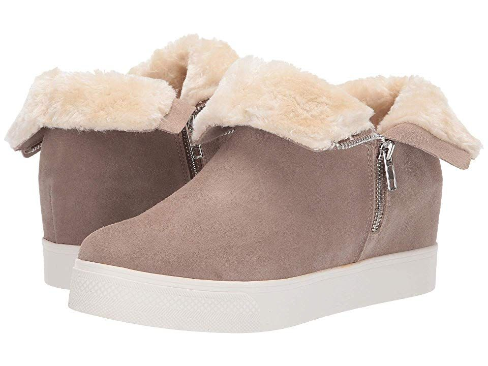 0dbc02e2191 Steve Madden Wanda Wedge Sneaker Women's Wedge Shoes Taupe Suede ...