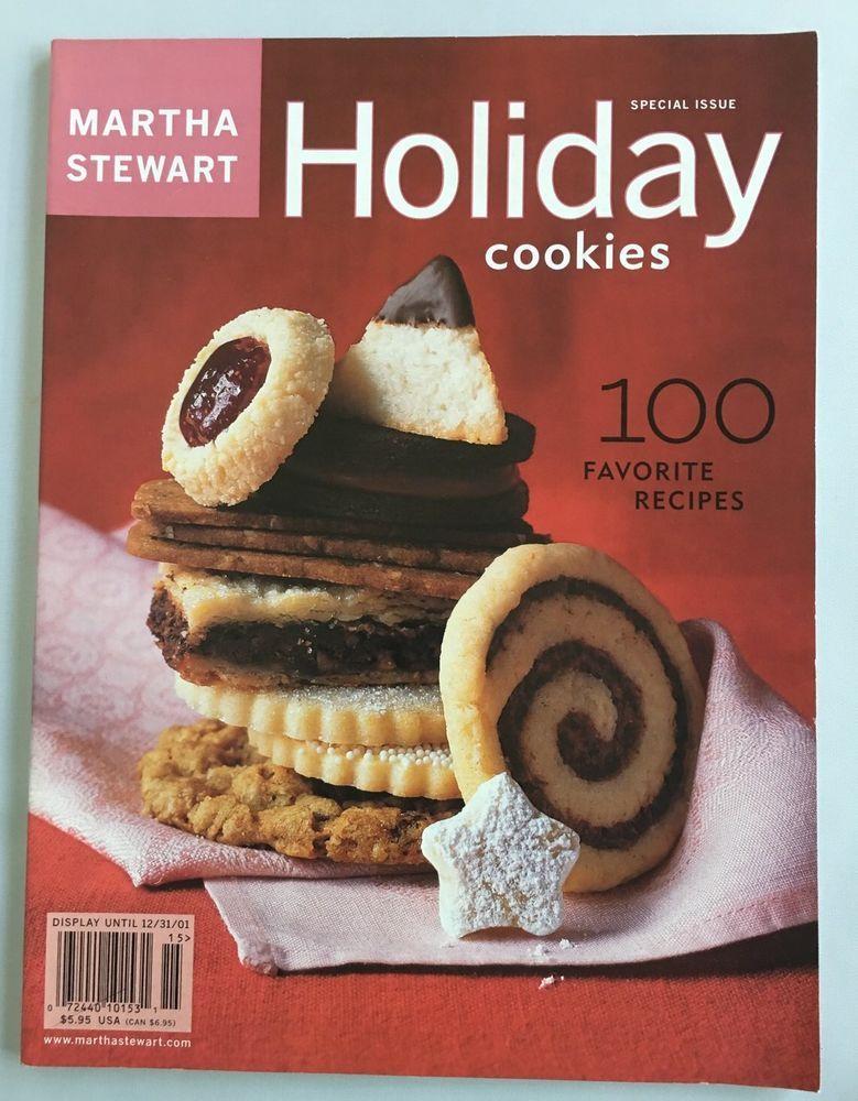 Martha Stewart Magazine Holiday Cookies 2001 Christmas 100 Recipes ...