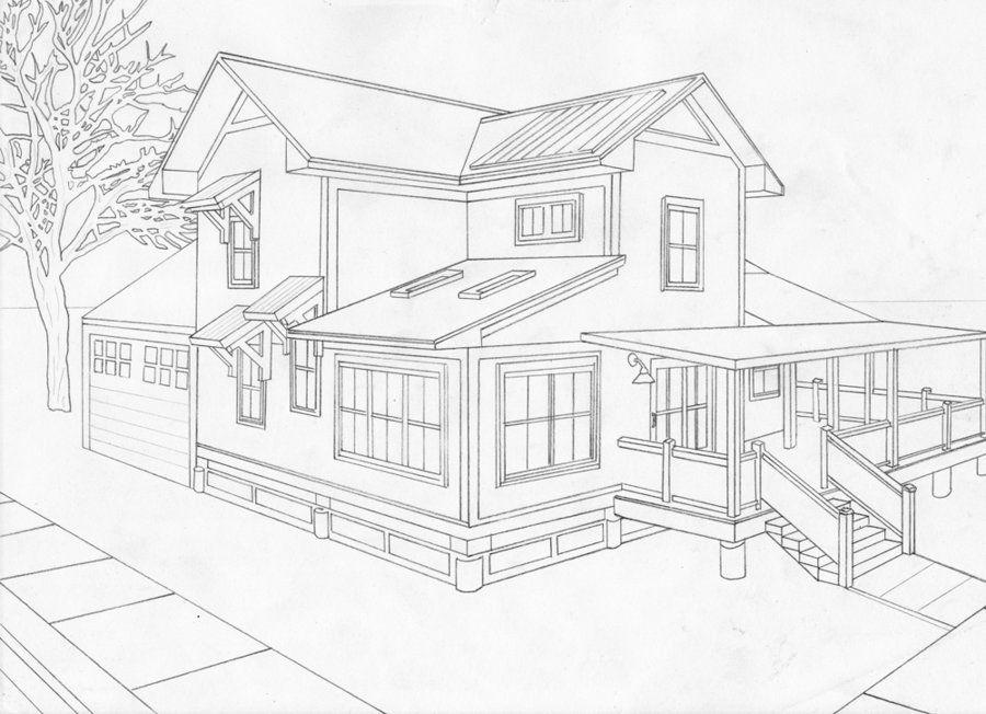 картинки как нарисовать большой дом поделитесь