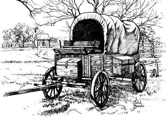 Pencil Drawings Of Wagons Elaine Bawden Portfolio Chuck