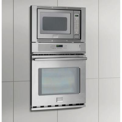 Electric Convection Wall Oven With Built In Microwave Stainless Steel Fpmc2785pf The Home Depot