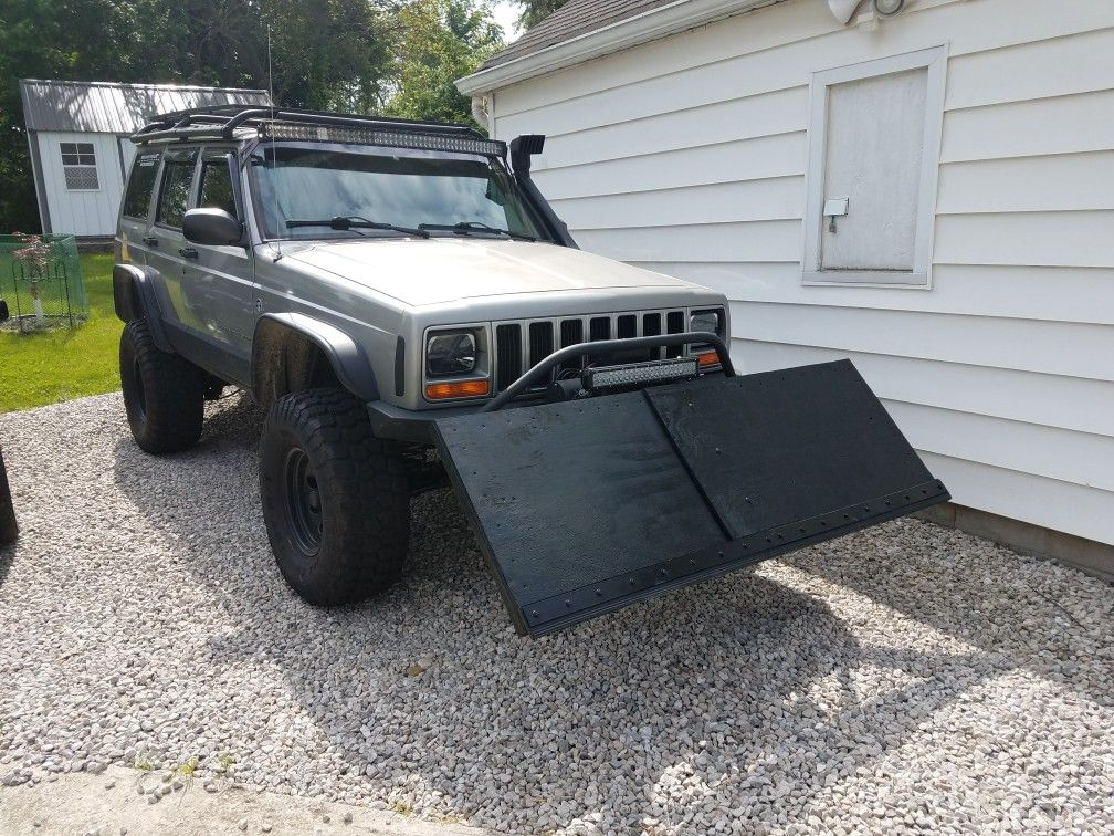Homemade Snow Plow Jeep Xj Jeep Xj Jeep Snow Plow