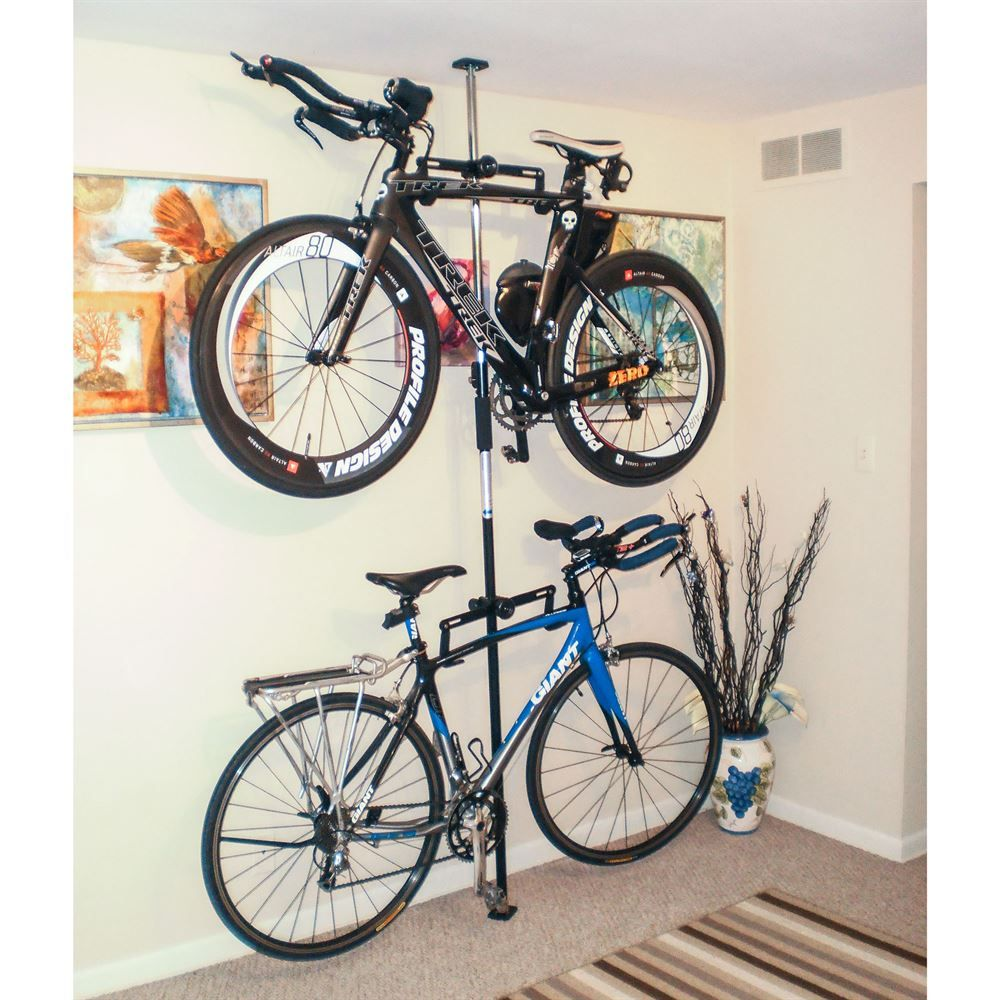 Apex Floor To Ceiling 2 Bike Storage Rack Bike Storage Rack Bike Storage Home Bicycle Storage