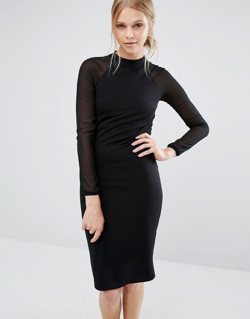 Ted Baker Wrenti Fitted Long Sleeve Rib Dress At Asos Com Ribbed Dresses Long Sleeve Fitted Dress Dresses [ 1110 x 870 Pixel ]