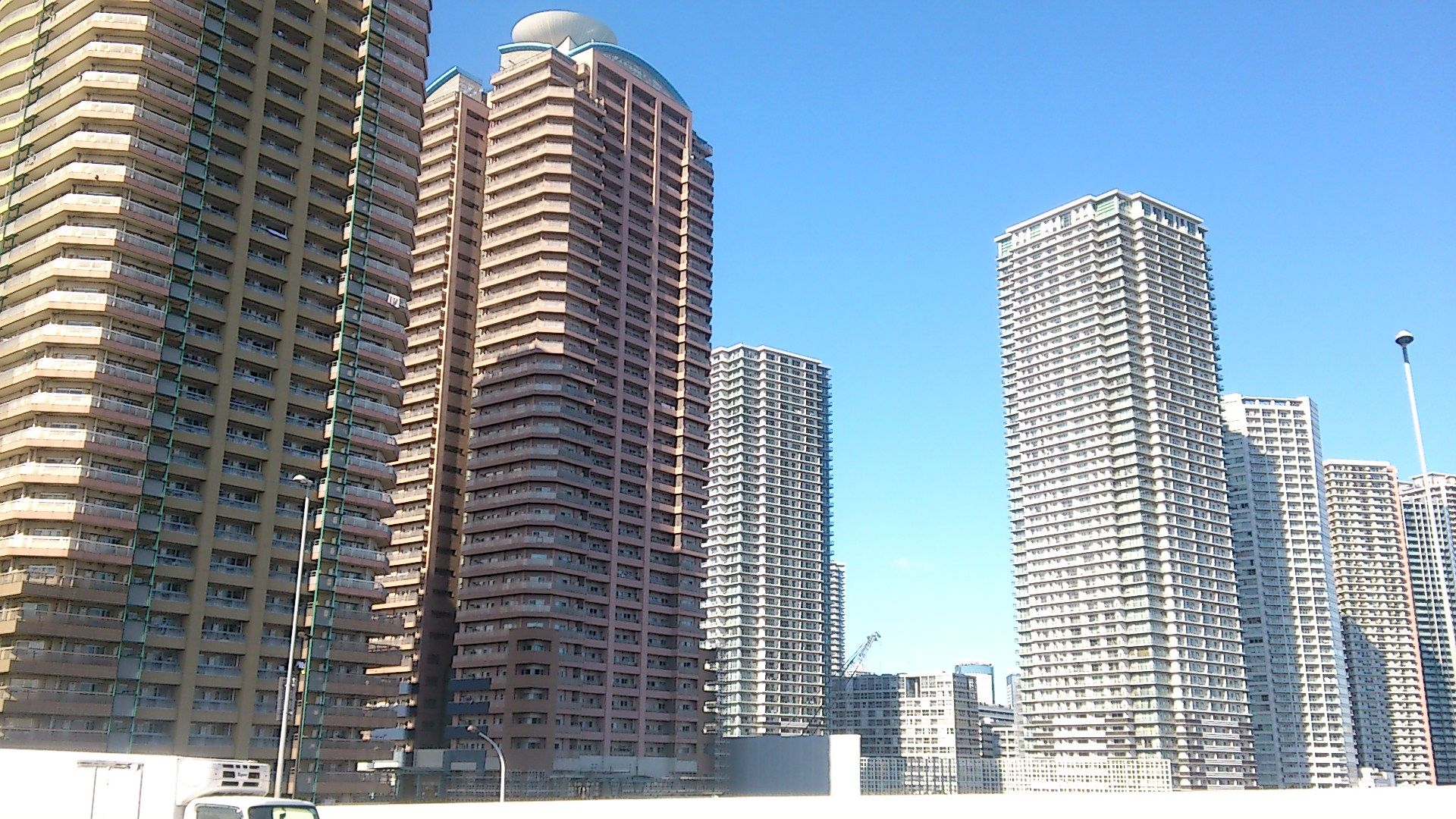 Tall repetitive buildings in Tokyo. I like the pattern of all the windows/floors.