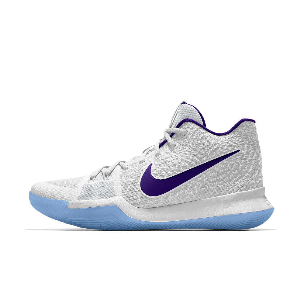 best website 7c5ab 098bc Nike Kyrie 3 iD Men's Basketball Shoe Size 12.5 (White ...