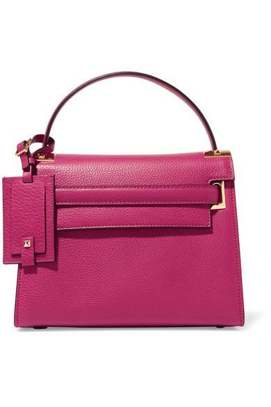 2d68f3d04d Valentino - My Rockstud Small Textured-leather Tote - Pink | Fashion ...