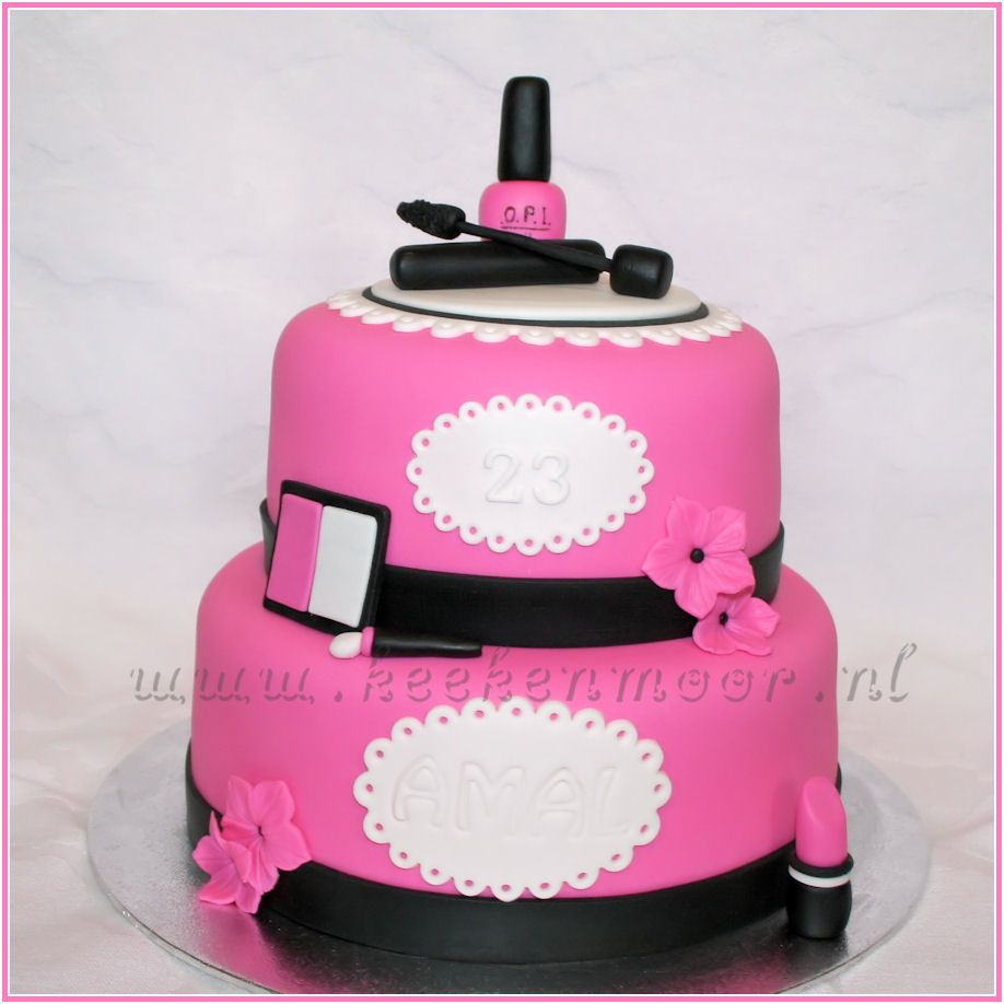 Make up cake - A simple make up cake and O.P.I nail polish!   Cake ...