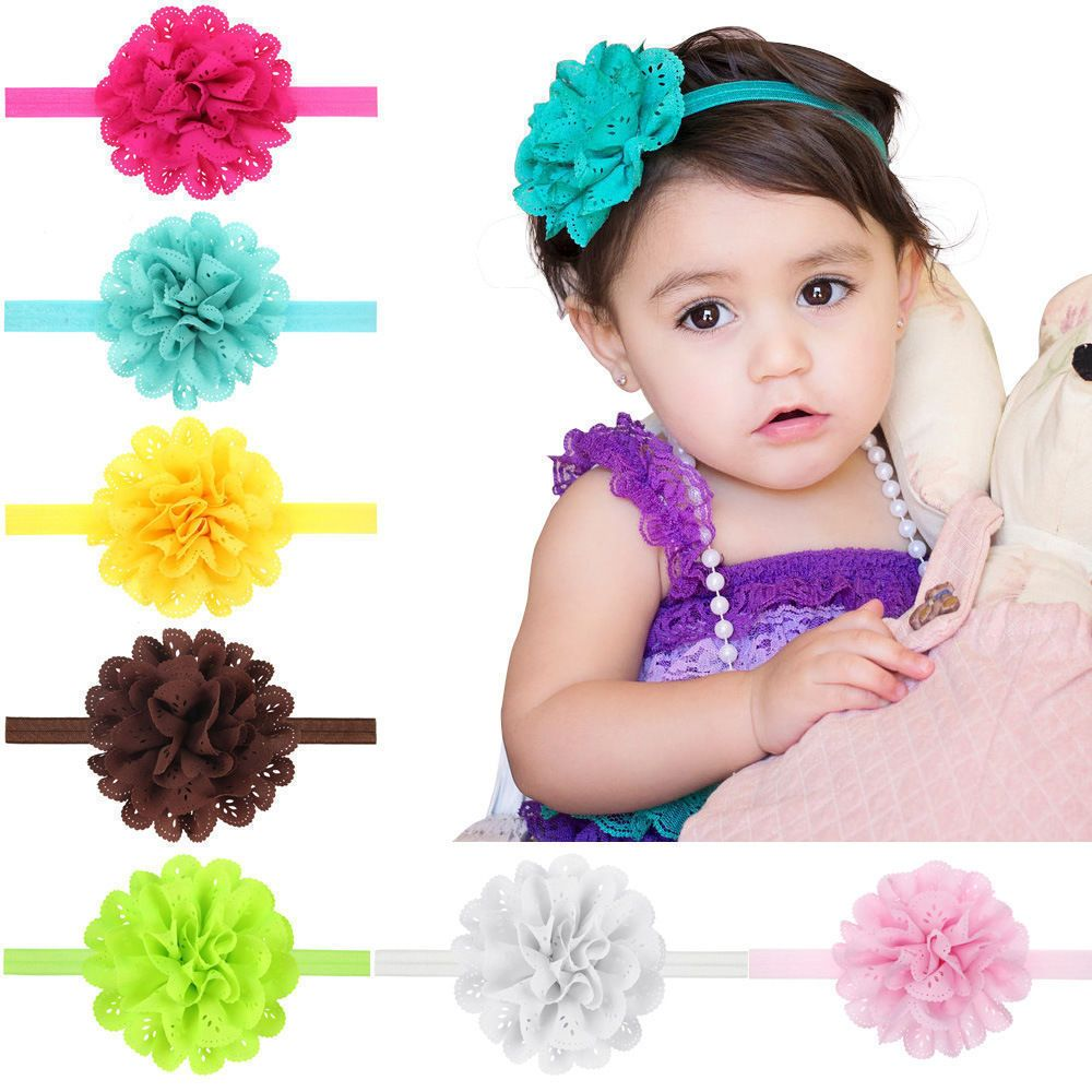 2.46 - Headwear Accessories Cute Girl Kids Toddler Flower Lace Hair Band  Headband O0014  ebay  Fashion 00c190f7e368