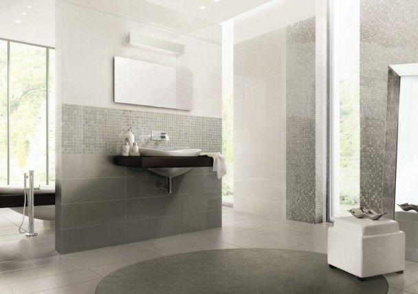 Mosaique Et Carrelage Blanc Brillant Mettent En Scène Une