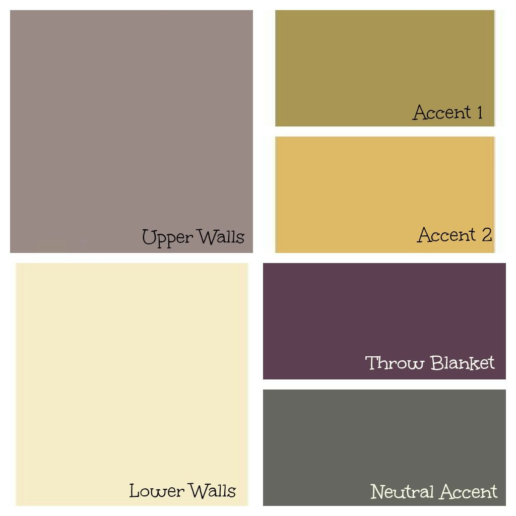 Living Room Paint Palette Charcoal Purple Gold And Green Color Palette Living Room Living Room Paint Plum Living Rooms