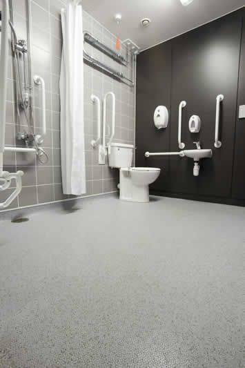 Altro Marine 20 Anti Slip Flooring For Wet Areas Altro Non Slip Bathroom Flooring Wet Room Bathroom Accessible Bathroom Design