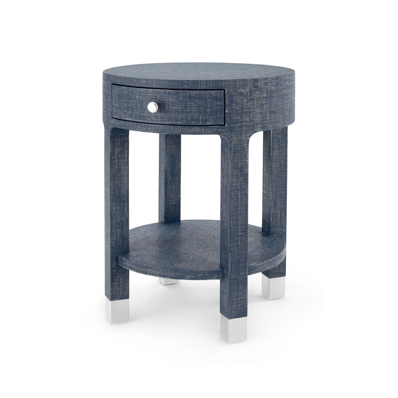Best Dakota 1 Drawer Round Side Table Navy Blue Bungalow 5 400 x 300