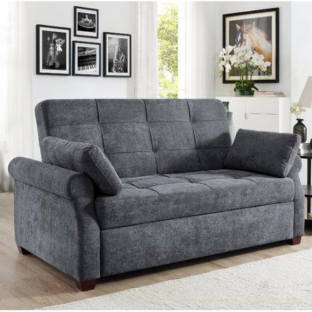 Wondrous Serta Haiden Sofa Queen Bed With Upholstered Microfiber Beatyapartments Chair Design Images Beatyapartmentscom