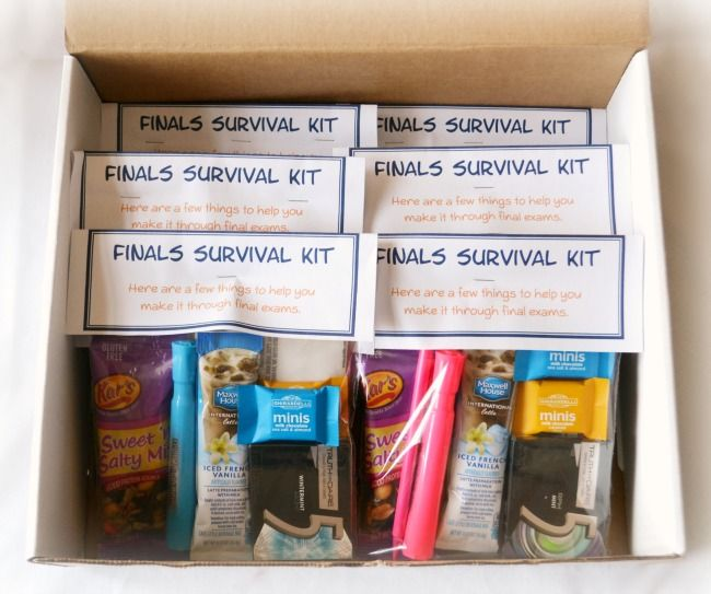 Finals Survival Kits College Care Packages Pinte