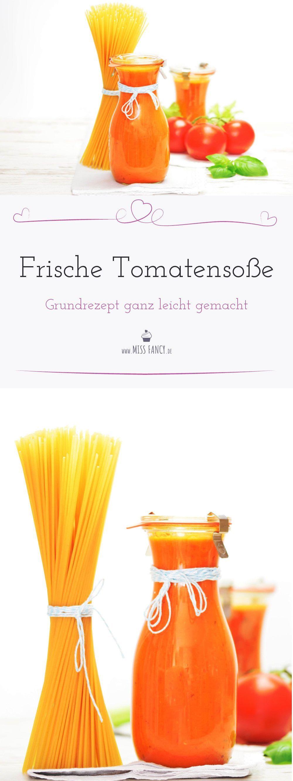 Was gibt es besseres als eine frisch selbst  gemachte Tomatensoße für deine Pasta-Gerichte? Hier verrate ich dir mein  Rezept, das du nach Belieben verändern kannst! #tomatensoße #grundrezept #tomaten
