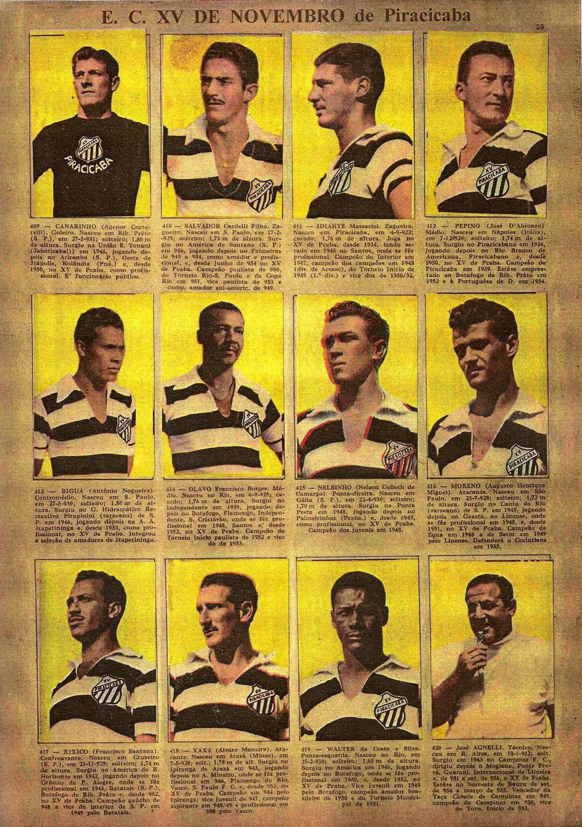 f2572c1130 Idolos do Futebol Brasileiro 1956 Historia Do Futebol