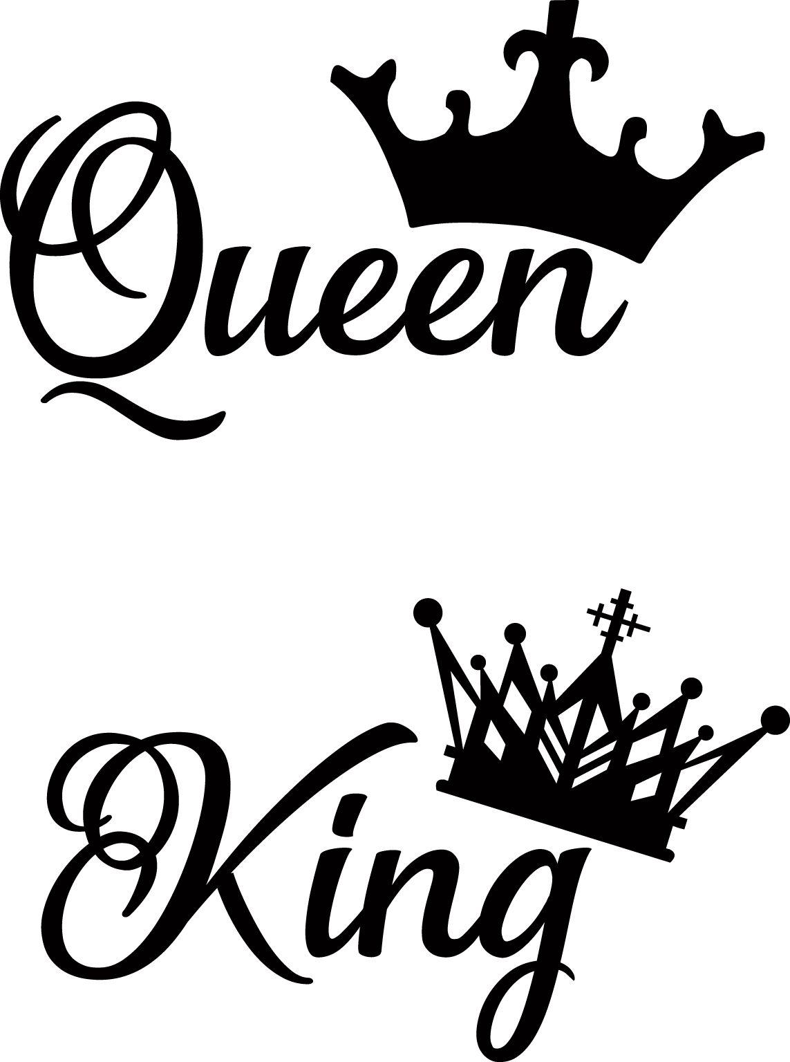 Archivos Compartidos Vectores Queen Y King Corona Dibujo Estilos De Letras Tatuaje De Reina